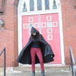 Winter Black cape…